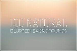 100 Blurred Backgrounds