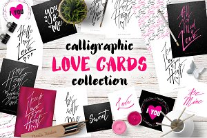 Lettering Love Cards