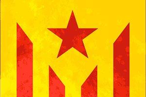 Estelada roja, bright catalonia flag