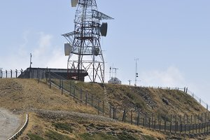 antenna on top of the mountain