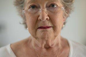 Senior woman looking at camera