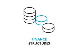 finance structures concept , outline icon, linear sign, thin line pictogram, logo, flat illustration, vector