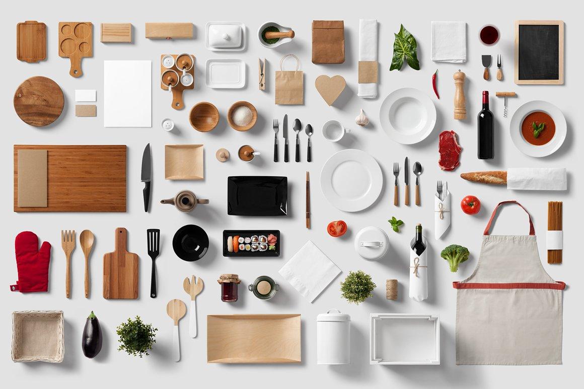 Restaurant food branding mock up product mockups for Food bar mockup