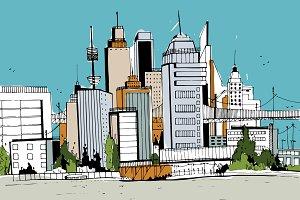 Megapolis. City landscape
