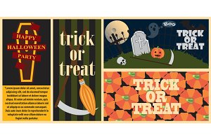 Trick or Treat Collection on Vector Illustration