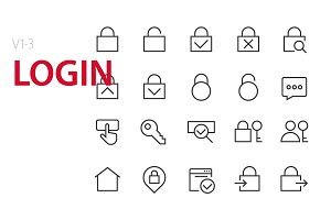 60  Login UI icons