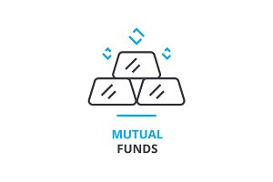 mutual funds concept , outline icon, linear sign, thin line pictogram, logo, flat illustration, vector