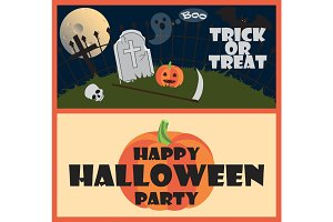 Trick or Treat Happy Halloween Party Wish