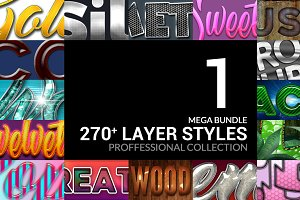 270+ Layer Styles Mega Bundle Vol.1