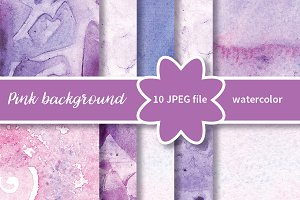 №259 Watercolor violet background