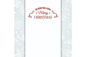 We wish you Merry Christmas greeting card template.