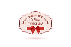 We wish you a very Merry Christmas ornate banner.