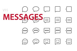 100 Messages UI icons