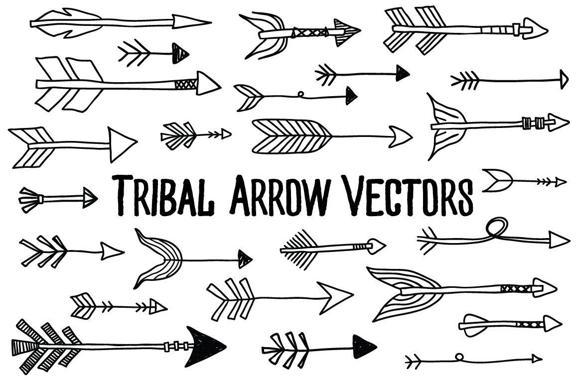 tribal arrow vectors illustrations creative market