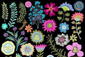Flower Clip Art 27 Elements