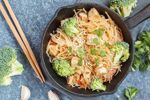 rice noodles with tofu