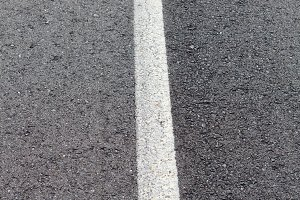 View of a road with a white line