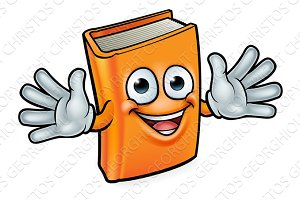 Book Cartoon Character Mascot