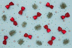 Christmas pattern holiday background