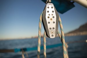 Pulley on the boat