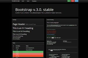 Bootstrap 3.0. theme Classic Dark UI