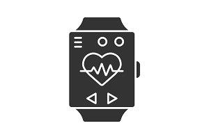 Sport bracelet glyph icon