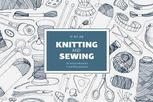 Knitting and sewing accessories