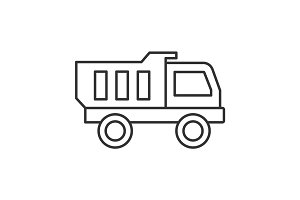 Toy truck linear icon