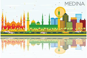 Medina Skyline with Color Buildings