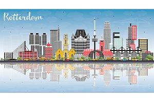 Rotterdam Netherlands Skyline
