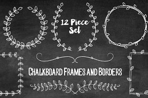 Chalkboard Laurels and Wreath Frames