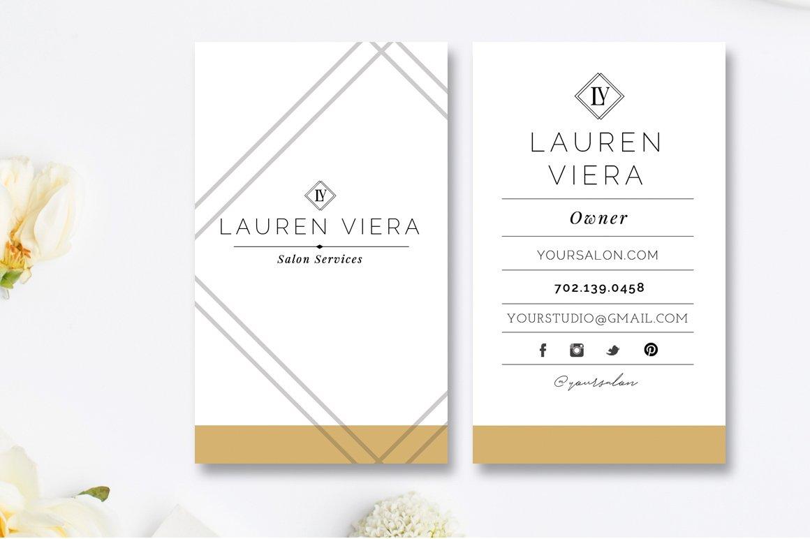 Salon Business Card Template Business Card Templates Creative Market