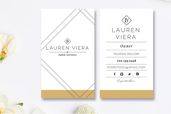 Salon business card template business card templates creative market colourmoves