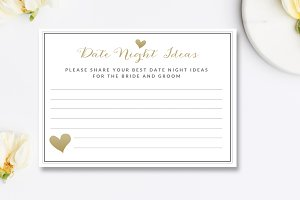 Date Night Ideas Card Template
