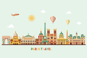 Paris detailed skyline