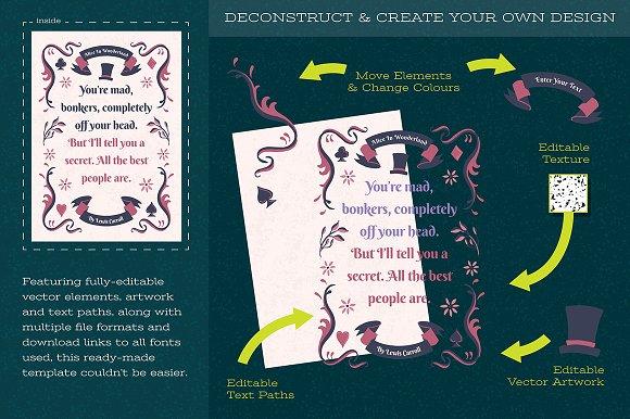 cute fairytale word art template illustrations creative market