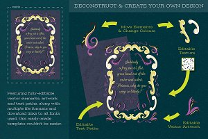 Decorative Story Book Template