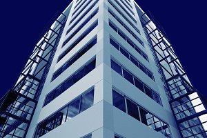corner skyscraper facades