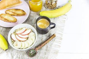 morning meal - vitamin classic breakfast of oatmeal