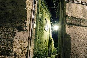 Night Stilo village, Italy
