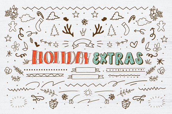 Happy Holiday Update Stunning Display Fonts Creative Market