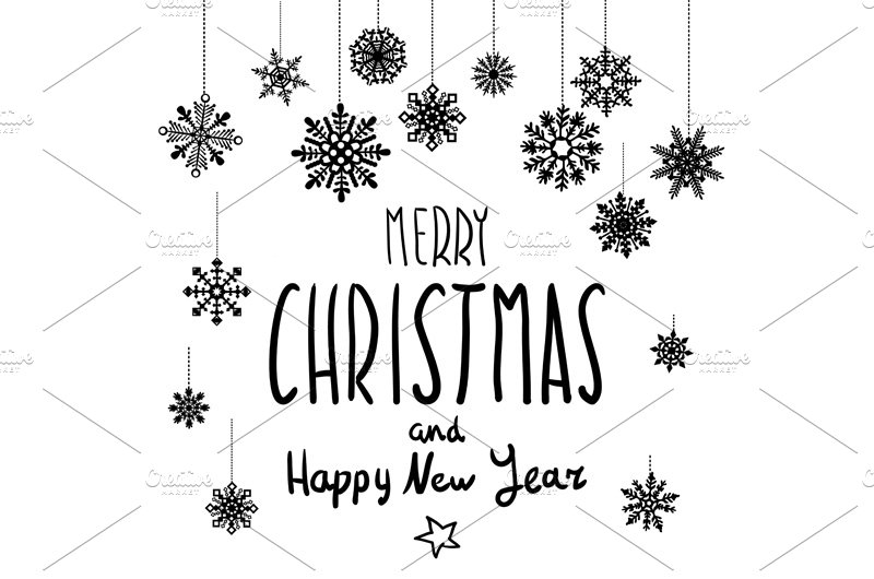 Merry Christmas And Happy New Year Graphics Creative Market