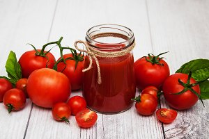 Jar with tomato