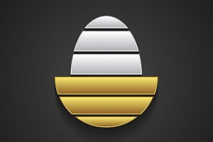 Logo template in shape of golden egg
