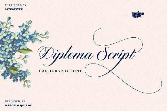 diploma script intro offer % off script fonts creative market diploma script intro offer 50% off script