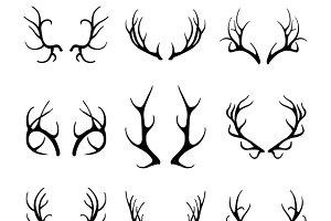 Vector deer antlers