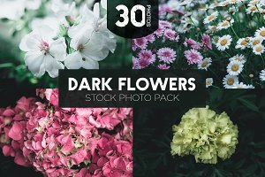 Dark Flowers - Stock Photos 37% Off