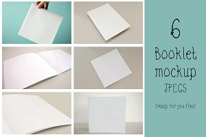 Booklet mockup (set of 6)