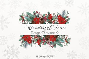 Wonderful Time Christmas Clipart