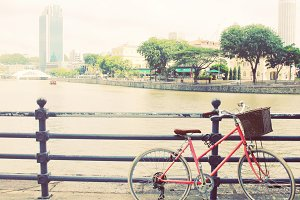 Classic city bicycle in Singapore